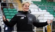 8 October 2019; Republic of Ireland manager Vera Pauw prior to the UEFA Women's 2021 European Championships qualifier match between Republic of Ireland and Ukraine at Tallaght Stadium in Dublin. Photo by Stephen McCarthy/Sportsfile