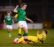 8 October 2019; Heather Payne of Republic of Ireland and Lyubov Shmatko of Ukraine during the UEFA Women's 2021 European Championships qualifier match between Republic of Ireland and Ukraine at Tallaght Stadium in Dublin. Photo by Stephen McCarthy/Sportsfile