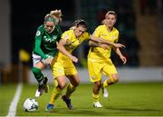 8 October 2019; Denise O'Sullivan of Republic of Ireland in action against Iya Andrushchak of Ukraine during the UEFA Women's 2021 European Championships qualifier match between Republic of Ireland and Ukraine at Tallaght Stadium in Dublin. Photo by Eóin Noonan/Sportsfile