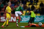 8 October 2019; Denise O'Sullivan of Republic of Ireland scores her side's third goal during the UEFA Women's 2021 European Championships qualifier match between Republic of Ireland and Ukraine at Tallaght Stadium in Dublin. Photo by Eóin Noonan/Sportsfile