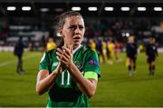 8 October 2019; Katie McCabe of Republic of Ireland following the UEFA Women's 2021 European Championships qualifier match between Republic of Ireland and Ukraine at Tallaght Stadium in Dublin. Photo by Stephen McCarthy/Sportsfile