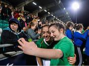 8 October 2019; Megan Connolly of Republic of Ireland poses for a selfie following the UEFA Women's 2021 European Championships qualifier match between Republic of Ireland and Ukraine at Tallaght Stadium in Dublin. Photo by Eóin Noonan/Sportsfile