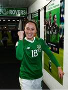 8 October 2019; Megan Campbell of Republic of Ireland following the UEFA Women's 2021 European Championships qualifier match between Republic of Ireland and Ukraine at Tallaght Stadium in Dublin. Photo by Stephen McCarthy/Sportsfile