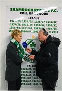 8 October 2019; Republic of Ireland manager Vera Pauw is interviewed by Adrian Eames of RTÉ following the UEFA Women's 2021 European Championships qualifier match between Republic of Ireland and Ukraine at Tallaght Stadium in Dublin. Photo by Stephen McCarthy/Sportsfile