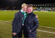 8 October 2019; Republic of Ireland manager Vera Pauw and Niamh O'Donoghue, right, followng the UEFA Women's 2021 European Championships qualifier match between Republic of Ireland and Ukraine at Tallaght Stadium in Dublin. Photo by Stephen McCarthy/Sportsfile
