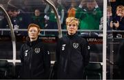 8 October 2019; Republic of Ireland manager Vera Pauw and assistant manager Eileen Gleeson, left, during the UEFA Women's 2021 European Championships qualifier match between Republic of Ireland and Ukraine at Tallaght Stadium in Dublin. Photo by Stephen McCarthy/Sportsfile