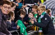8 October 2019; Republic of Ireland manager Vera Pauw following the UEFA Women's 2021 European Championships qualifier match between Republic of Ireland and Ukraine at Tallaght Stadium in Dublin. Photo by Stephen McCarthy/Sportsfile