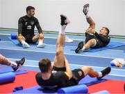 9 October 2019; James Collins, right, and Enda Stevens during a Republic of Ireland gym session at FAI National Training Centre in Abbotstown, Dublin. Photo by Stephen McCarthy/Sportsfile