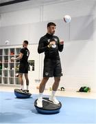9 October 2019; Enda Stevens during a Republic of Ireland gym session at FAI National Training Centre in Abbotstown, Dublin. Photo by Stephen McCarthy/Sportsfile