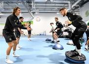 9 October 2019; Jeff Hendrick, left, and Matt Doherty during a Republic of Ireland gym session at FAI National Training Centre in Abbotstown, Dublin. Photo by Stephen McCarthy/Sportsfile