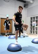 9 October 2019; Aaron Connolly during a Republic of Ireland gym session at FAI National Training Centre in Abbotstown, Dublin. Photo by Stephen McCarthy/Sportsfile