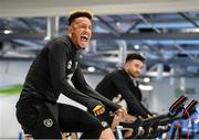 9 October 2019; Callum Robinson and Sean Maguire, right, during a Republic of Ireland gym session at FAI National Training Centre in Abbotstown, Dublin. Photo by Stephen McCarthy/Sportsfile