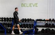 9 October 2019; James Collins during a Republic of Ireland gym session at FAI National Training Centre in Abbotstown, Dublin. Photo by Stephen McCarthy/Sportsfile