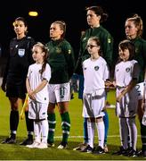 8 October 2019; Mascots during the UEFA Women's 2021 European Championships qualifier match between Republic of Ireland and Ukraine at Tallaght Stadium in Dublin. Photo by Stephen McCarthy/Sportsfile