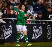 8 October 2019; Megan Campbell of Republic of Ireland during the UEFA Women's 2021 European Championships qualifier match between Republic of Ireland and Ukraine at Tallaght Stadium in Dublin. Photo by Stephen McCarthy/Sportsfile