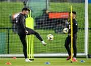 9 October 2019; Scott Hogan during a Republic of Ireland training session at the FAI National Training Centre in Abbotstown, Dublin. Photo by Seb Daly/Sportsfile
