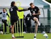 9 October 2019; James McClean, right, and Jeff Hendrick during a Republic of Ireland training session at the FAI National Training Centre in Abbotstown, Dublin. Photo by Seb Daly/Sportsfile