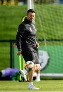 9 October 2019; Republic of Ireland assistant coach Robbie Keane during a Republic of Ireland training session at the FAI National Training Centre in Abbotstown, Dublin. Photo by Seb Daly/Sportsfile