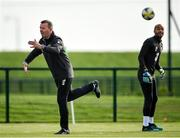 9 October 2019; Republic of Ireland goalkeeping coach Alan Kelly, left, and Darren Randolph during a Republic of Ireland training session at the FAI National Training Centre in Abbotstown, Dublin. Photo by Seb Daly/Sportsfile