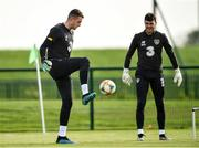 9 October 2019; Mark Travers, left, and Kieran O'Hara during a Republic of Ireland training session at the FAI National Training Centre in Abbotstown, Dublin. Photo by Seb Daly/Sportsfile