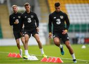 9 October 2019; Conor Masterson, centre, during a Republic of Ireland U21's Training Session at Tallaght Stadium in Dublin. Photo by Harry Murphy/Sportsfile