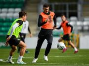 9 October 2019; Troy Parrott, right, and Danny McNamara during a Republic of Ireland U21's Training Session at Tallaght Stadium in Dublin. Photo by Harry Murphy/Sportsfile
