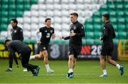 9 October 2019; Connor Ronan, second right, during a Republic of Ireland U21's Training Session at Tallaght Stadium in Dublin. Photo by Harry Murphy/Sportsfile