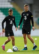 9 October 2019; Lee O'Connor, left, and Dara O'Shea during a Republic of Ireland U21's Training Session at Tallaght Stadium in Dublin. Photo by Harry Murphy/Sportsfile