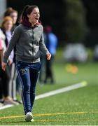 9 October 2019; UL Coach Eimear Scally during the Senior match against Mary Immaculate College at the 2019 Gourmet Food Parlour HEC Freshers Blitz at University of Limerick, Limerick. Photo by Piaras Ó Mídheach/Sportsfile