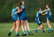 9 October 2019; TU Dublin Blanchardstown players celebrate after the Junior final  win over DCU at the 2019 Gourmet Food Parlour HEC Freshers Blitz at University of Limerick, Limerick. Photo by Piaras Ó Mídheach/Sportsfile