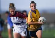 9 October 2019; Action from DCU and UL during the Senior final at the 2019 Gourmet Food Parlour HEC Freshers Blitz at University of Limerick, Limerick. Photo by Piaras Ó Mídheach/Sportsfile