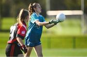 9 October 2019; Eimear Canty of TU Dublin Blanchardstown in action against GTI in their Junior match at the 2019 Gourmet Food Parlour HEC Freshers Blitz at University of Limerick, Limerick. Photo by Piaras Ó Mídheach/Sportsfile