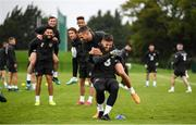 10 October 2019; Matt Doherty and Conor Hourihane, left, during a Republic of Ireland training session at the FAI National Training Centre in Abbotstown, Dublin. Photo by Stephen McCarthy/Sportsfile