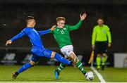 10 October 2019; Connor Ronan of Republic of Ireland in action against Enrico Del Prato of Italy during the UEFA European U21 Championship Qualifier Group 1 match between Republic of Ireland and Italy at Tallaght Stadium in Tallaght, Dublin. Photo by Sam Barnes/Sportsfile