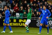 10 October 2019; Connor Ronan of Republic of Ireland reacts to a missed chance during the UEFA European U21 Championship Qualifier Group 1 match between Republic of Ireland and Italy at Tallaght Stadium in Tallaght, Dublin. Photo by Sam Barnes/Sportsfile