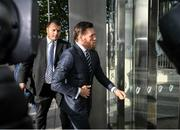 11 October 2019; Conor McGregor arrives at The Criminal Courts of Justice in Dublin. Photo by Ramsey Cardy/Sportsfile