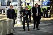 11 October 2019; Conor McGregor, centre, arrives at The Criminal Courts of Justice in Dublin. Photo by Ramsey Cardy/Sportsfile