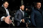 11 October 2019; Conor McGregor leaves The Criminal Courts of Justice in Dublin. Photo by Ramsey Cardy/Sportsfile
