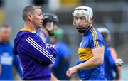 6 October 2019; Patrickswell manager Ciarán Carey with captain Cian Lynch before the Limerick County Senior Club Hurling Championship Final match between Na Piarsaigh and Patrickswell at LIT Gaelic Grounds in Limerick. Photo by Piaras Ó Mídheach/Sportsfile