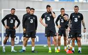11 October 2019; Republic of Ireland players, from left, Enda Stevens, Matt Doherty, Seamus Coleman, Kevin Long, Conor Hourihane, Jack Byrne and Glenn Whelan during a training session at the Boris Paichadze Erovnuli Stadium in Tbilisi, Georgia. Photo by Seb Daly/Sportsfile