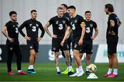 11 October 2019; Republic of Ireland players, from left, Aaron Connolly, James Collins, James McClean, Callum O'Dowda, Josh Cullen and Jeff Hendrick during a training session at the Boris Paichadze Erovnuli Stadium in Tbilisi, Georgia. Photo by Seb Daly/Sportsfile
