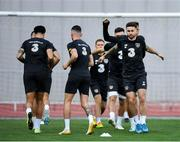 11 October 2019; Sean Maguire, right, during a Republic of Ireland training session at the Boris Paichadze Erovnuli Stadium in Tbilisi, Georgia. Photo by Seb Daly/Sportsfile