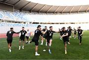 11 October 2019; Sean Maguire and team-mates during a Republic of Ireland training session at the Boris Paichadze Erovnuli Stadium in Tbilisi, Georgia. Photo by Stephen McCarthy/Sportsfile