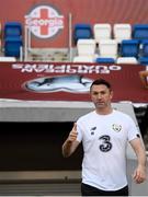 11 October 2019; Republic of Ireland assistant coach Robbie Keane during a Republic of Ireland training session at the Boris Paichadze Erovnuli Stadium in Tbilisi, Georgia. Photo by Stephen McCarthy/Sportsfile
