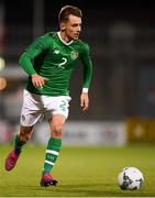 10 October 2019; Lee O'Connor of Republic of Ireland during the UEFA European U21 Championship Qualifier Group 1 match between Republic of Ireland and Italy at Tallaght Stadium in Tallaght, Dublin. Photo by Eóin Noonan/Sportsfile