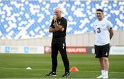 11 October 2019; Republic of Ireland manager Mick McCarthy and assistant coach Robbie Keane, right, during a Republic of Ireland training session at the Boris Paichadze Erovnuli Stadium in Tbilisi, Georgia. Photo by Stephen McCarthy/Sportsfile