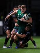 11 October 2019; Peter Robb of Connacht is tackled by Tyler Morgan of Dragons during the Guinness PRO14 Round 3 match between Dragons and Connacht at Rodney Parade in Newport, Wales. Photo by Chris Fairweather/Sportsfile