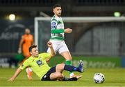 11 October 2019; Tony McNamee of Finn Harps in action against Daniel Lafferty of Shamrock Rovers during the SSE Airtricity League Premier Division match between Shamrock Rovers and Finn Harps at Tallaght Stadium in Dublin. Photo by Matt Browne/Sportsfile