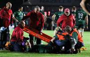 11 October 2019; Paddy McAllister of Connacht receives treatment before being stretchered off during the Guinness PRO14 Round 3 match between Dragons and Connacht at Rodney Parade in Newport, Wales. Photo by Gareth Everett/Sportsfile