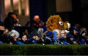 11 October 2019; Leo The Lion during the Guinness PRO14 Round 3 match between Leinster and Edinburgh at the RDS Arena in Dublin. Photo by Ramsey Cardy/Sportsfile